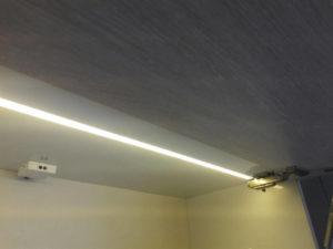 نمای کلی لامپ ال ای دی و سنسور درب کابینت