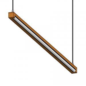 چراغ آویز بالا تابلویی چوبی