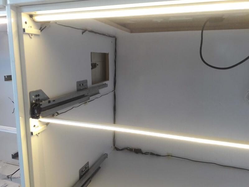 نورپردازی کشویی با استفاده از سنسور مجزا