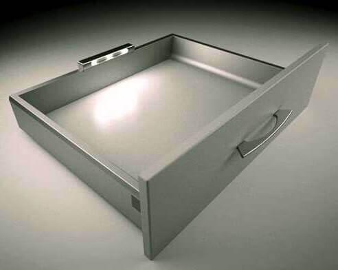 لامپ کشویی باتری خور-نصب شده داخل کشو و در قسمت عقب کشو