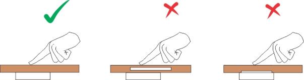 نحوه صحیح اتصال سطحی کلید لمسی به سطوح و دو مدل غلط آن